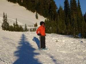 Snowshoe kid at Mt Rainier