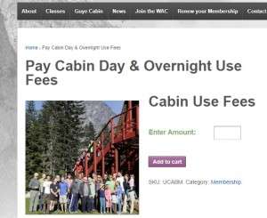 Cabin fees